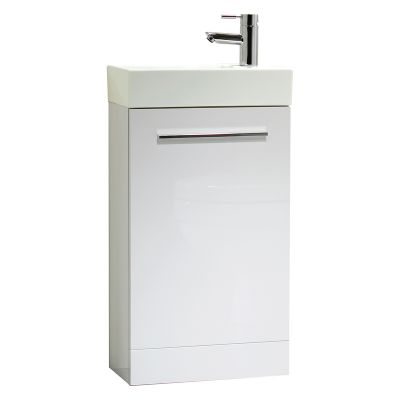 Kobe 450mm White Freestanding Unit with Basin