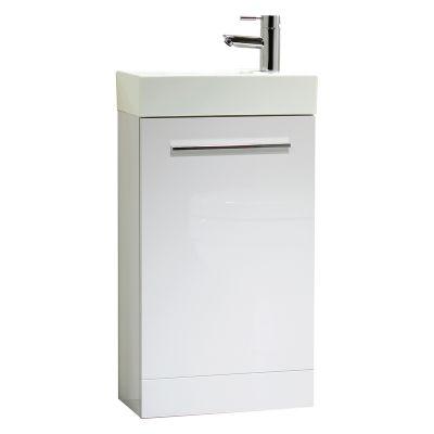 Kobe 450mm White Freestanding Unit with Basin