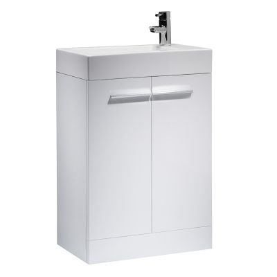 Kobe 560mm White Freestanding Unit with Basin