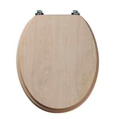 Millennium limed oak wood veneer toilet seat
