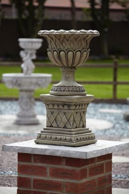 Weaved Urn on Plinth