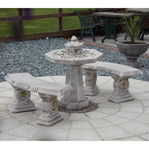 Japanese Patio Set - White