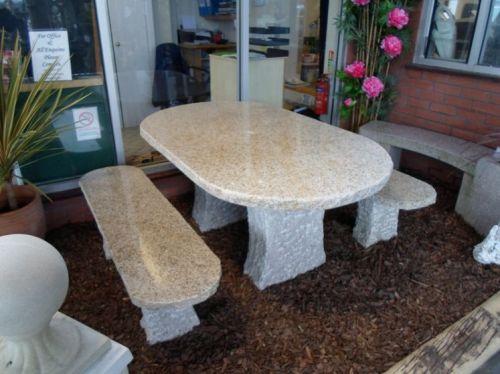 Granite Oblong Table Set