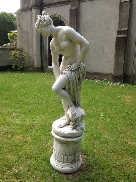 Bathing Goddess on Plinth