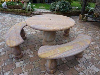 Sandstone Table Set