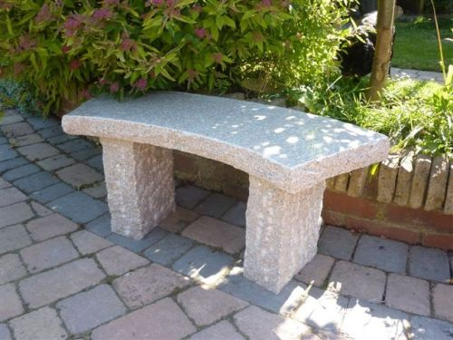 Rustic Curved Bench - Pink