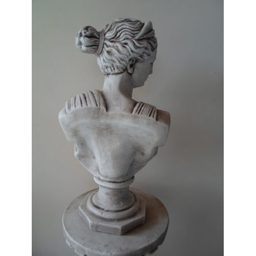 Fluted Column with Diana Bust
