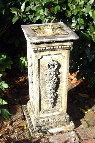 Floral Brass Sundial