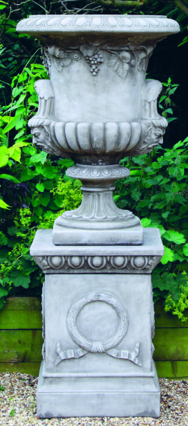 Large Regency Urn on Plinth