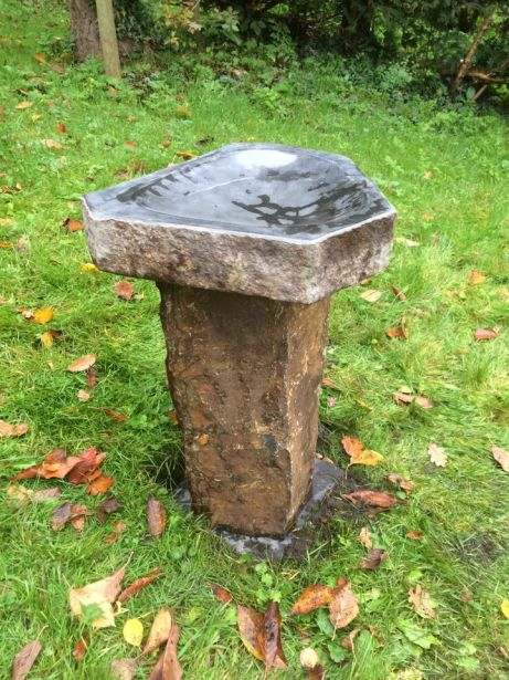 Moray Basalt Bird Bath