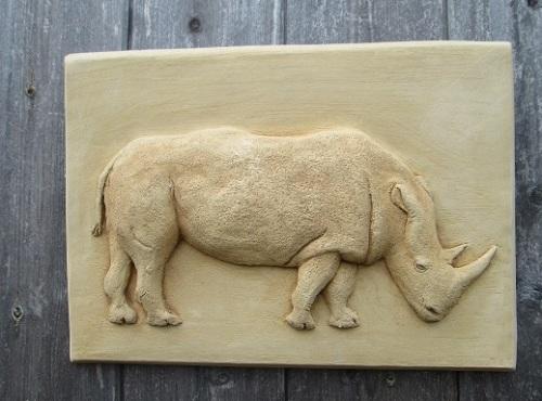 Rhinoceros Wall Plaque