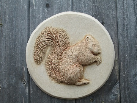 Red Squirrel Wall Plaque