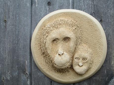 Orangutan Wall Plaque