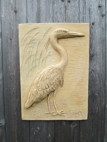 Heron Wall Plaque
