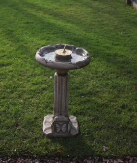 Classic Sundial Birdbath