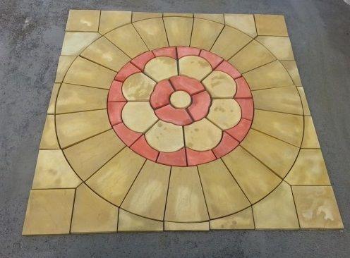 Terracotta Rose Paving Set