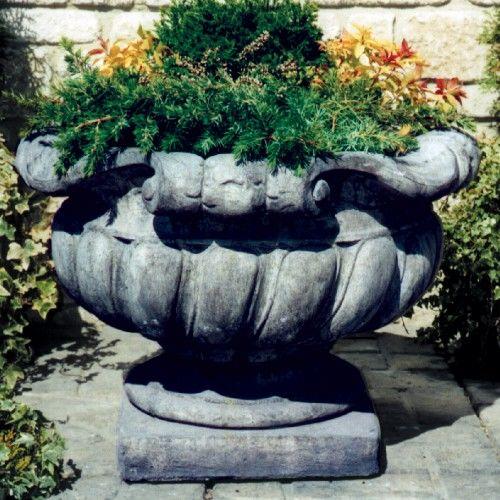 Scrolled Stone Urn