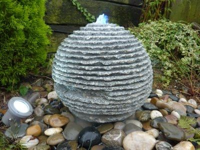 Rustic Sphere Fountain