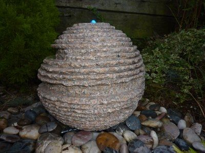 Pinky Rustic Sphere Fountain