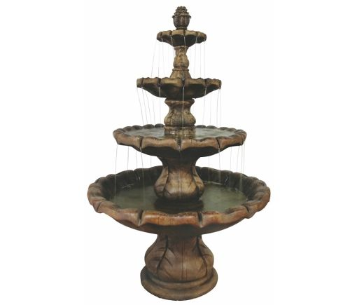 Classical Finial Fountain - 4 Tier