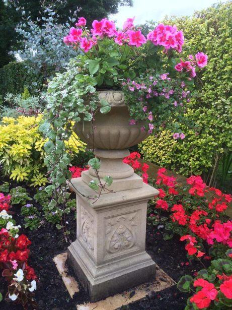 Florentine Urn & French Pedestal