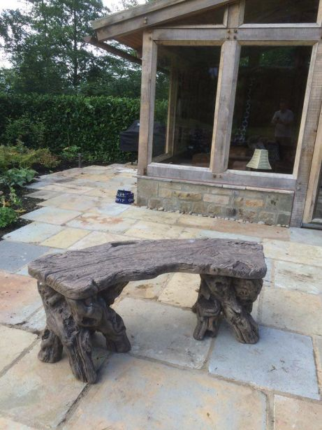 Timber Effect Bench