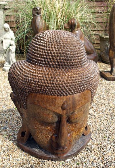Umber Buddha Head