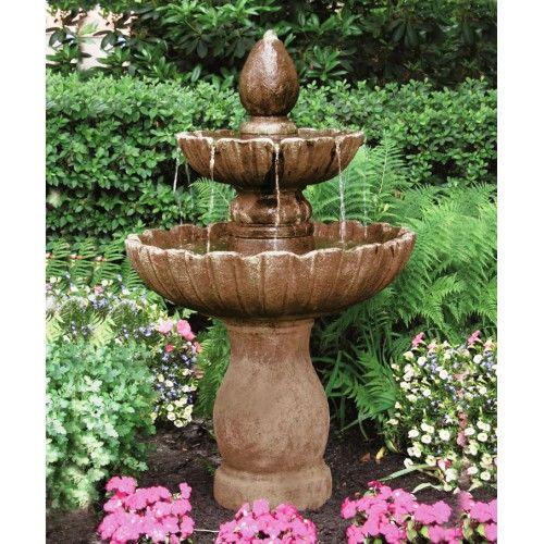 Two Tier Mirabella Scallop Fountain