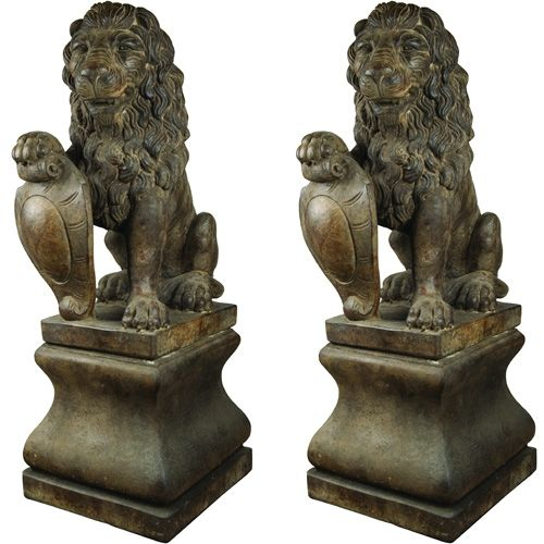Classic Twin Lion Fountain