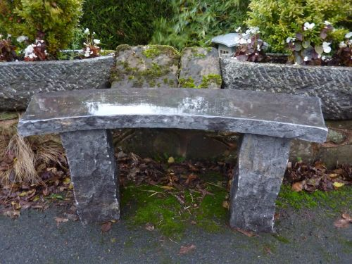 Black Limestone Bench