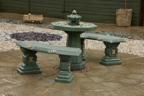Japanese Patio Set - Green