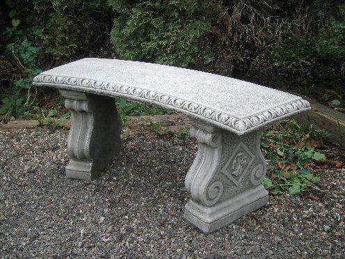 Curved Georgian Bench