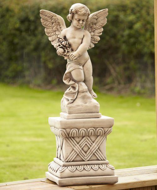 Angel On Plinth