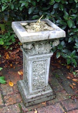 Rococo Brass Sundial