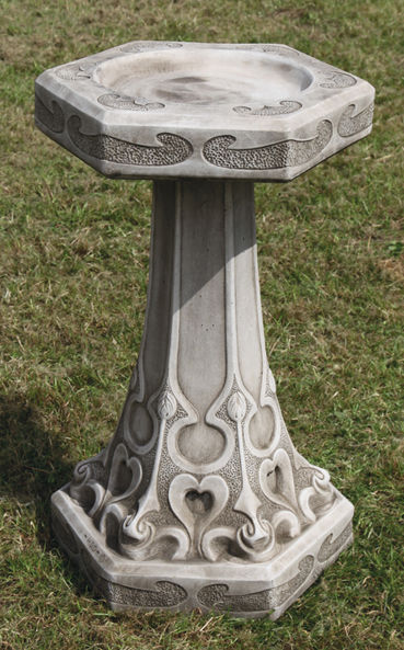 Art Nouveau Bird Bath