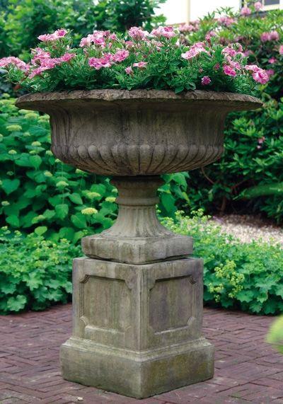Grand Victorian Urn & Plinth