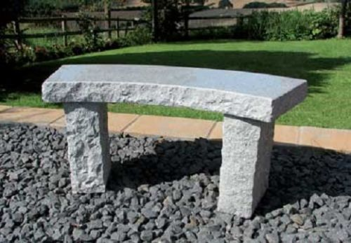 Rustic Curved Bench - Grey