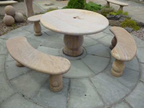 Sandstone Table Set