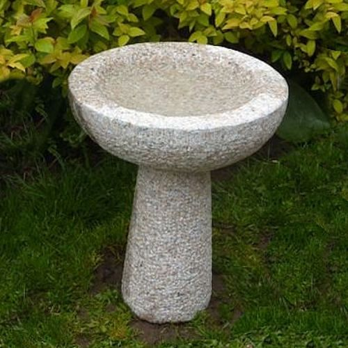 Granite Round Bird Bath - Medium