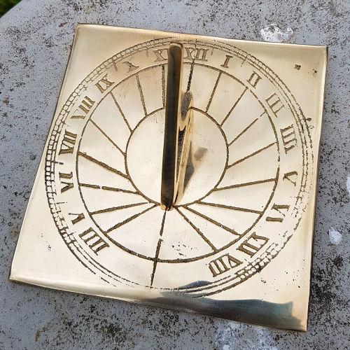 Square Brass Sundial