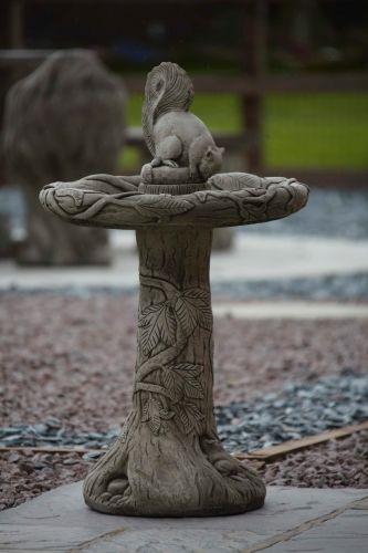 Ivy Squirrel Bird Bath