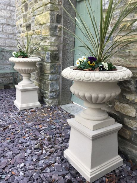 Florentine Urns  on Plinths