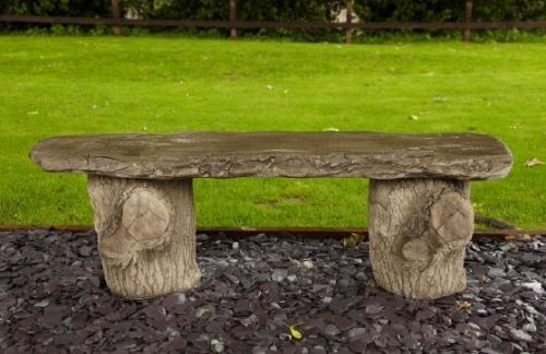 Tree Trunk Bench