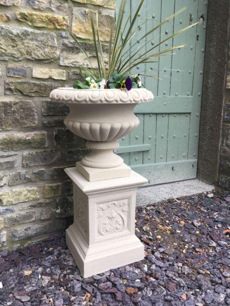 Florentine Urn on French Pedestal