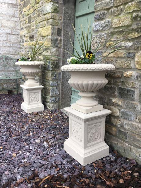 Florentine Urns on Pedestals