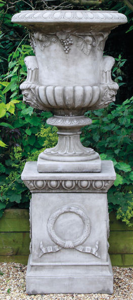 Large Regency Urn on Plinth