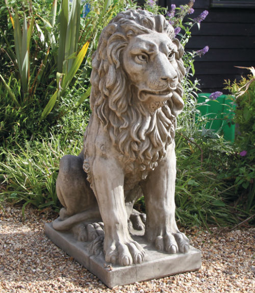 Large Seated Lion