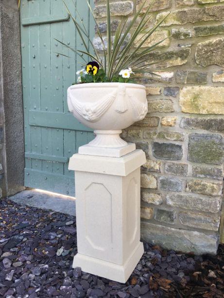 Buckingham Urn on Abbey Pedestal