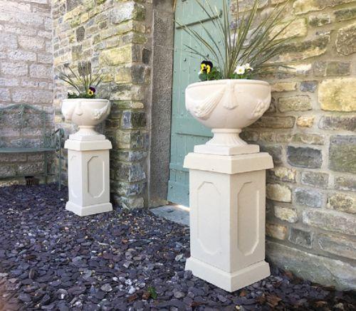 Buckingham Urns on Abbey Pedestals