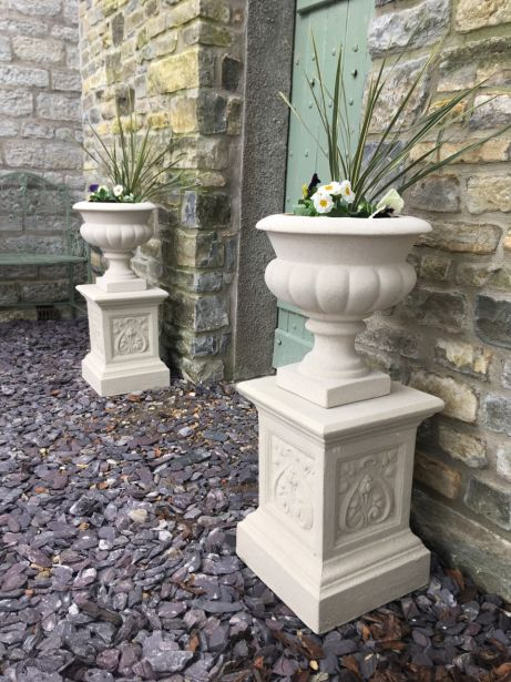 Italian Urns on French Pedestals